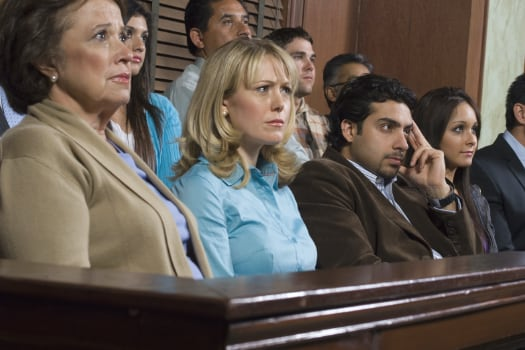 Jurors listen to best                                  Oregon divorce and family law attorneys during trial.